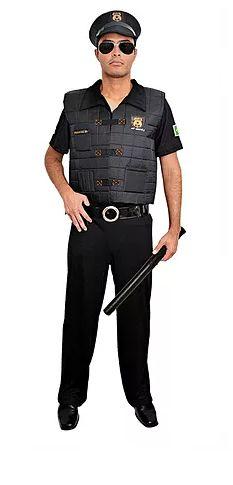 Fantasia Adulto - Policial Masculino - G
