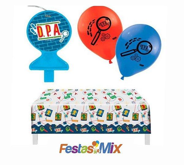 Kit Decoração de Festa - DPA - Detetives do Prédio Azul