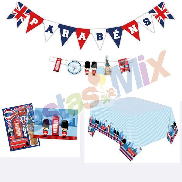 Kit Decoração de Festa - Londres