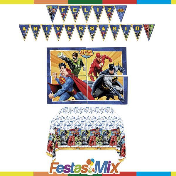 Kit Decoração de Festa - Liga da Justiça