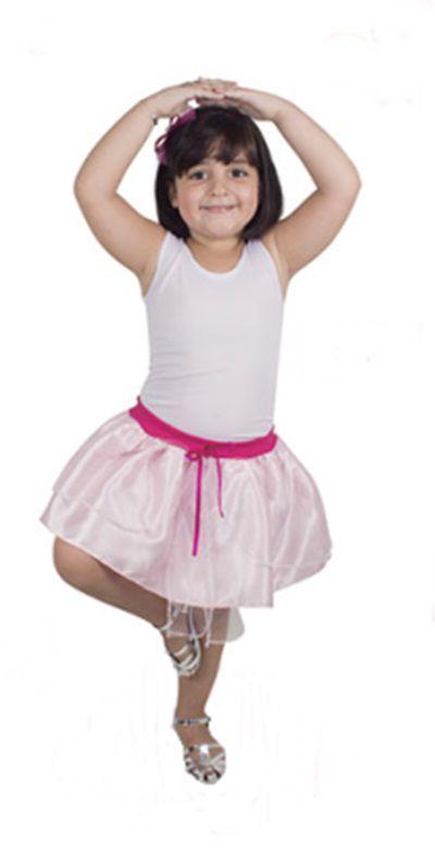 Fantasia Infantil - Saia Rosa - M