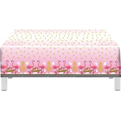 Toalha de Mesa plástica - Flamingo