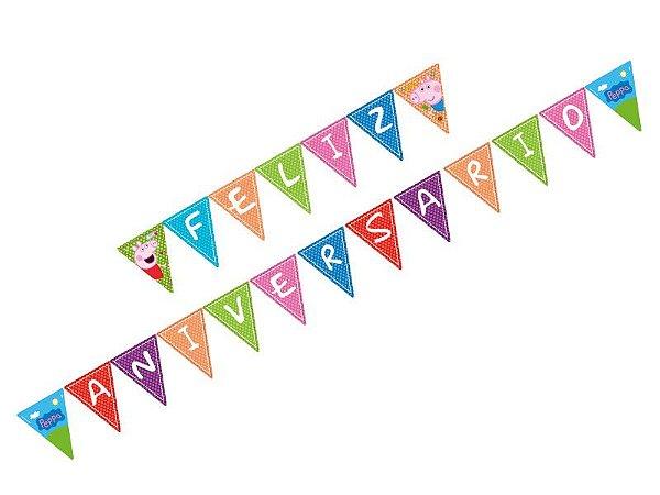 Faixa Feliz Aniversário - Peppa Pig