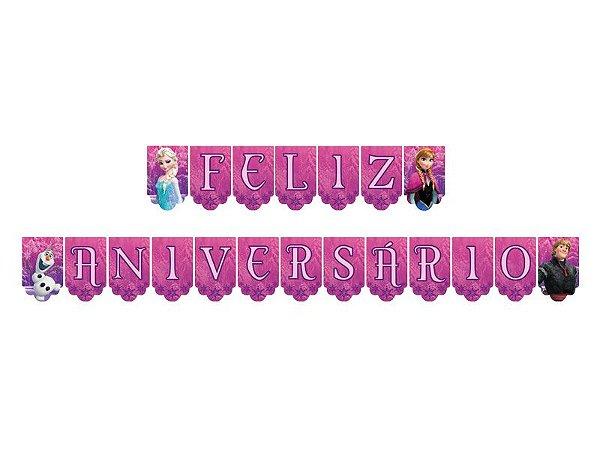 Faixa Feliz Aniversário - Frozen