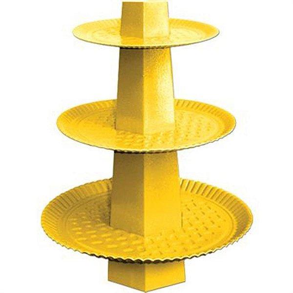 Baleiro 3 Andares - Amarelo