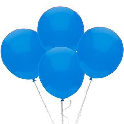 Balão Látex 9 Polegadas - Azul Claro - 50 unidades