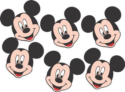 Mini Carinhas EVA - Mickey Mouse - 06 unidades
