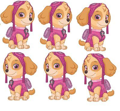 Micro Personagem EVA - Patrulha Canina - Skye - 06 unidades