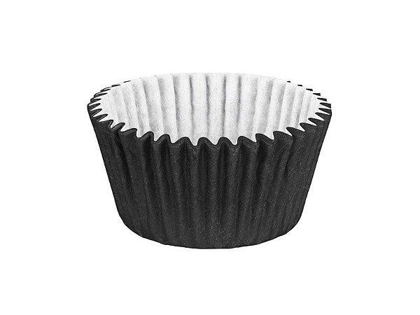 Forminha para Cupcake - Festa Colors Preto - 45 unidades