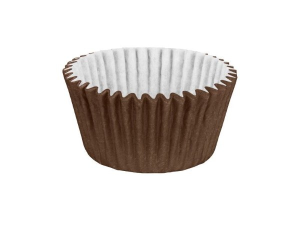Mini Forminha para Cupcake - Festa Colors Marrom - 45 unidades