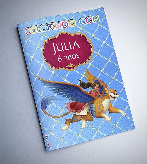 Livro para Colorir - Elena de Avalor Azul