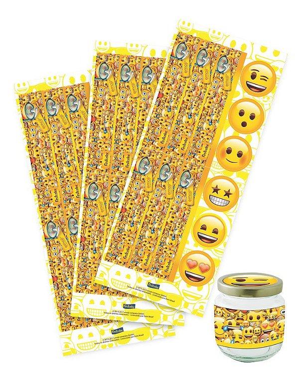 Adesivo para Lembrança - Emoji - 36 unidades