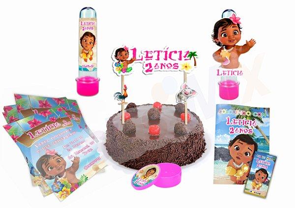 Kit Festa Personalizada - Moana Baby