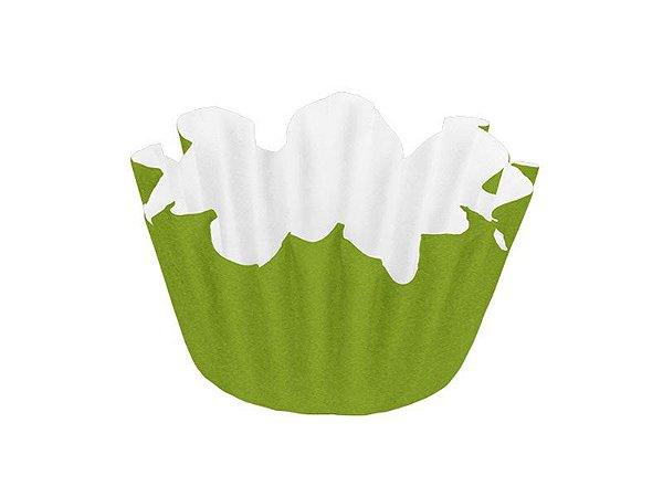 Forminha Nº 6 - Flor Verde Claro - 100 unidades
