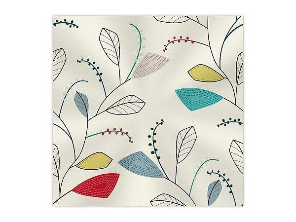Saco Transparente para Presente - Folhas Colors - 50 unidades