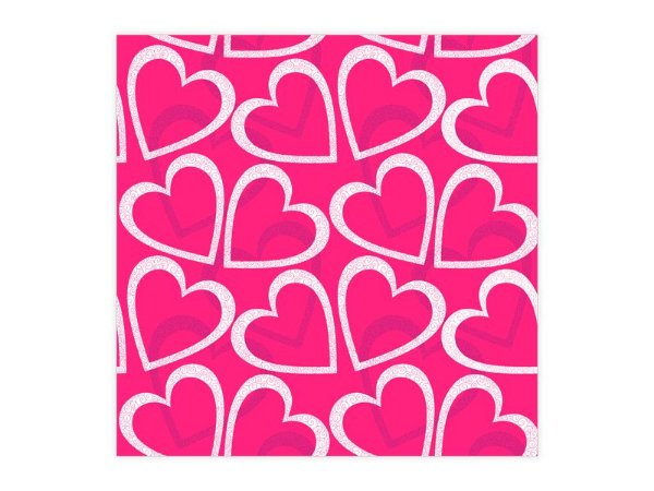 Saco Metalizado para Presente - Corações Pink - 50 und