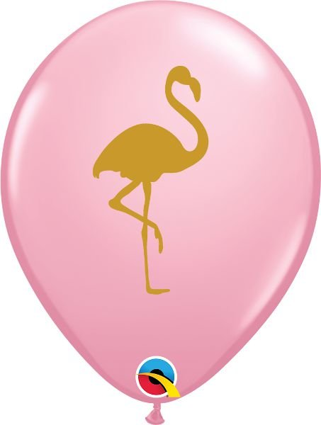 Balão Látex 11 Polegadas - Flamingo - 05 unidades