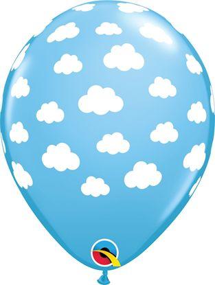 Balão Látex 11 Polegadas - Nuvem Azul - 05 unidades