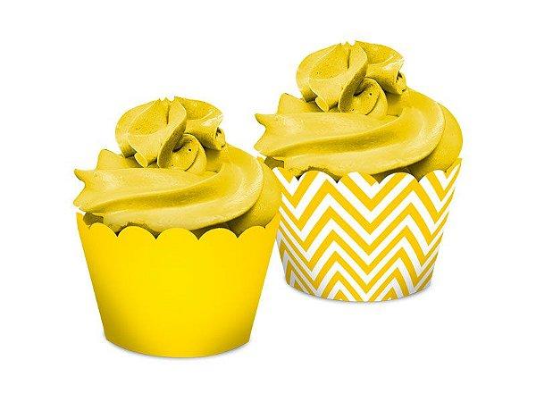 Saia Dupla Face - Festa Colors Amarelo - 16 unidades