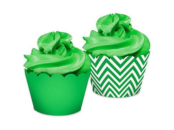 Saia Dupla Face - Festa Colors Verde - 16 unidades