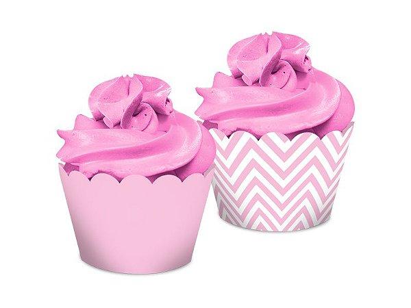 Saia Dupla Face - Festa Colors Rosa Bebê - 16 unidades