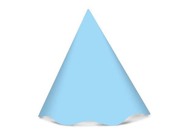 Chapéu de Aniversário Liso - Azul Bebê - 08 unidades