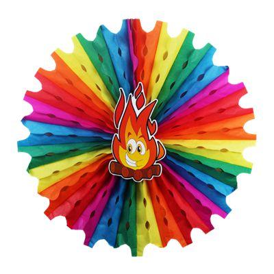 Enfeite Circulo Colorido - Fogueira
