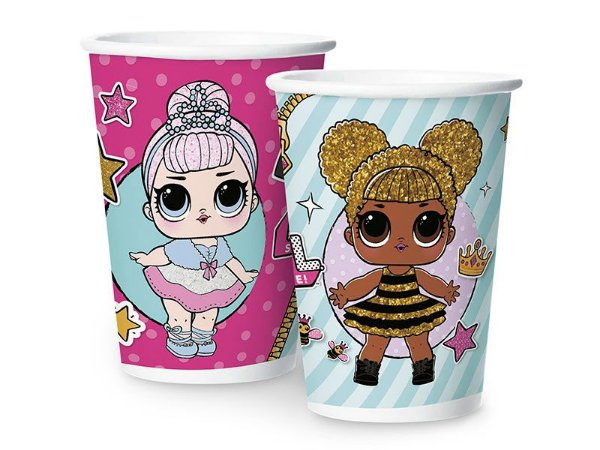 Copo de Papel 180ml - LOL Surprise ! - 08 unidades