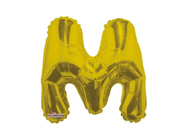 Balão Metalizado 22 cm - Dourado - Letra M