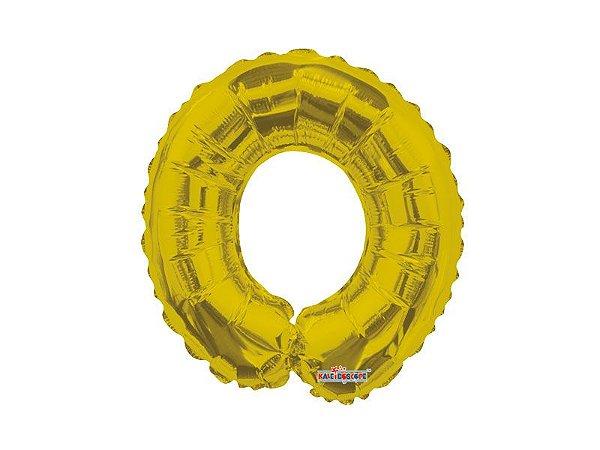 Balão Metalizado 66 cm - Dourado -  Letra O