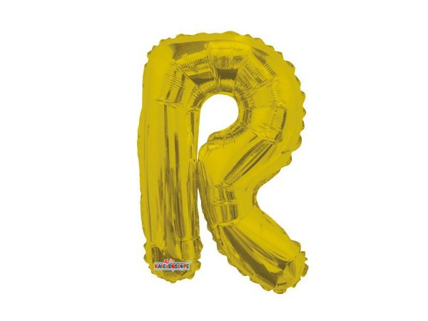 Balão Metalizada 22 cm - Dourada - Letra R