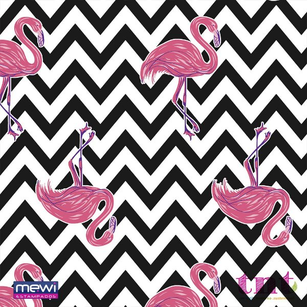 TNT Estampado - flamingo chevron - 01 Metro