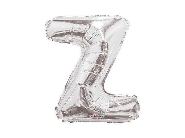 Balão Metalizado 25 cm - PRATEADO - Letra Z