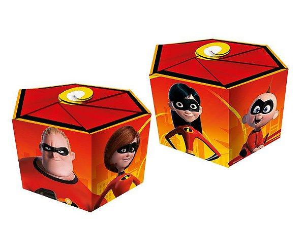 Caixa Surpresa  Sextavada - Os incríveis 2 - 08 unidades