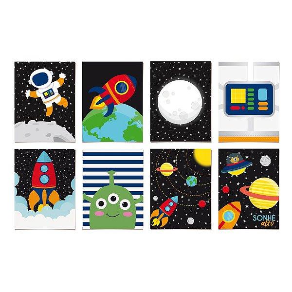 Cartaz decorativo - Astronauta -  08 unidades