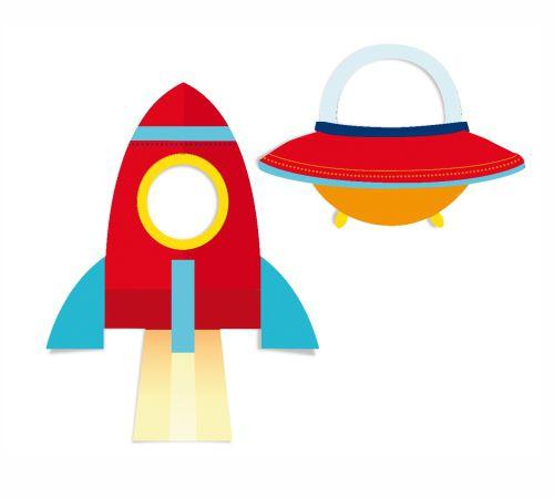 Adereços para diversão - Astronauta - 02 unidades