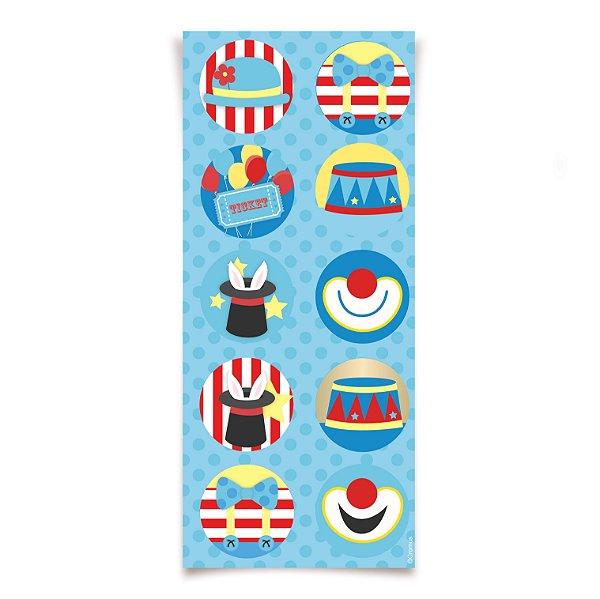 Adesivo redondo - Circus - 03 cartelas