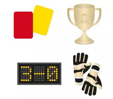 Adereços para diversão - Futebol - 08 unidades