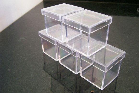 Caixa acrílica  5x5 - Pacote com 10 unidades