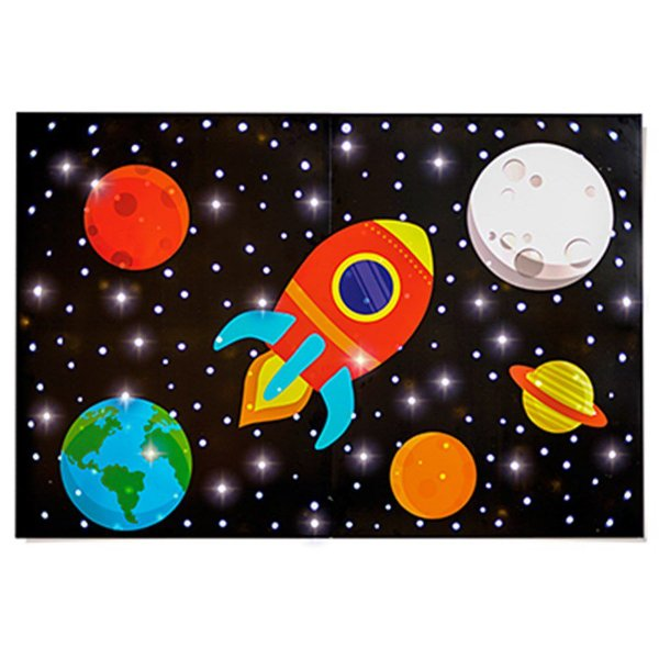 Painel com led - Astronauta