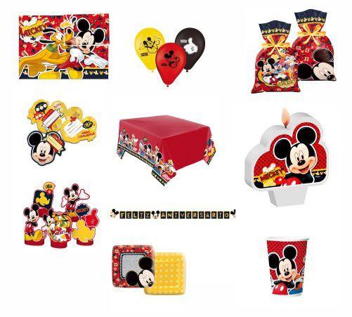 Kit Festa Decoração Mickey -24 pessoas