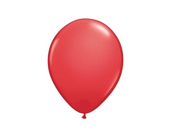 Balão Redondo Látex N° 8 - Vermelho - Art Latex