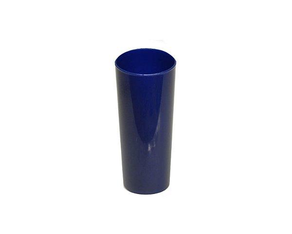 Copo Acrílico Long Dring - 300ml - Azul Marinho Leitoso