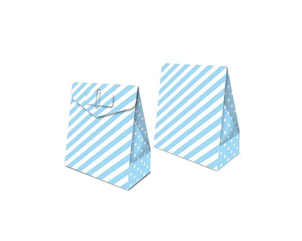 Caixa Surpresa - Festa Colors Azul Bebê - 08 unidades