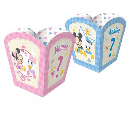 Cachepot Pequeno Baby Disney Chá Revelação - 08 Unidades