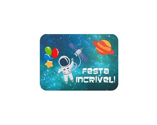 Adesivo Retangular 5x4 - Astronauta 20 unidades