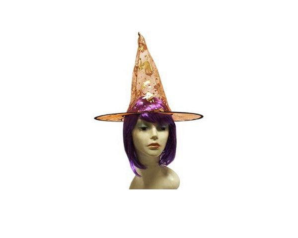 Chapéu de Bruxa Organza - Laranja