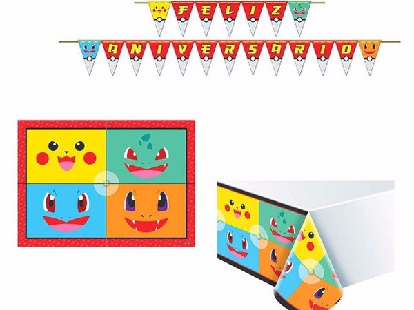 Kit Decoração de Festa Pocket Monsters - Pokemon