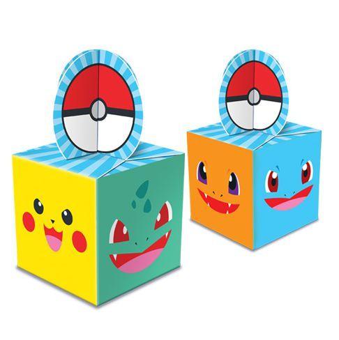 Caixa para Lembrancinhas - Pocket Monsters - c/ 08 Unidade