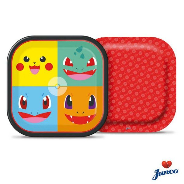 Prato Quadrado - Pocket Monsters - 18 cm